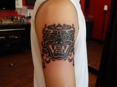 Custom Ancient Design Shoulder Tattoo