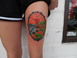 Beach Landscape Tattoo