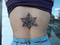 Geometric Black and White Tattoo