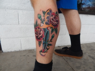 Sword with Roses Tattoo